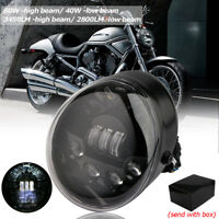 Motorrad LED Oval Scheinwerfer Daymaker Für Harley Davidson VRSC V-rod 2002-2017