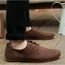 Men Casual Suede Shoes Dress Formal Oxfords Lace Up Flats Loafers Pumps 6.5-10
