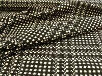 vintage style pink black purple red gunclub check with Wool tweed fabric