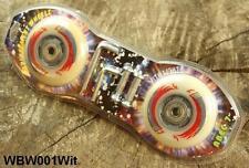 LED Ersatzrollen Waveboard Skateboard Board Weiß ABEC 7 Lager Achsen + Werkzeug