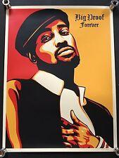 Shepard Fairey Obey Big Proof Forever signé Art Imprimé Detroit Rap Hip Hop Art