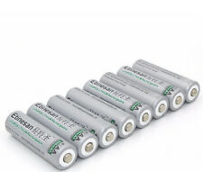 8 PCS Etinesan 600mah LiFePo4  lithium AA rechargeable batteries  for camera ect