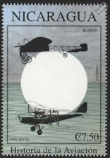 RAF DH.83 FOX MOTH Biplane / BLERIOT Monoplane Aircraft Stamp (1999 Nicaragua)
