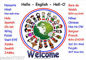 Multicultural Welcome A4 POSTERS~OFSTED~Nursery~Childminder~School~7 Designs
