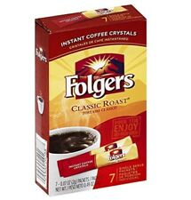 Folgers Classic Roast Instant Coffee Single Serve Packets 84 Count Fresh Bold