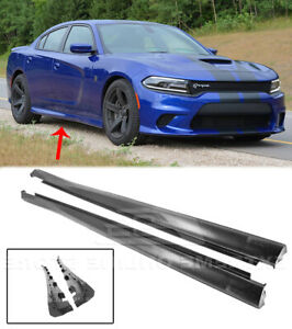 SRT Factory Style Side Skirts For 11-Up Dodge Charger Rocker Panel Pair Upgrade