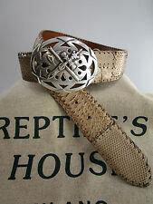 ORIGINAL reptile's CASA Cinturón de concluir VINTAGE Cerrar reptile's CASA rh-01