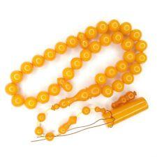 Turkish Amberoid Worry Beads SIKMA Kehribar Tesbih Prayer Tasbih Misbaha Eid 743