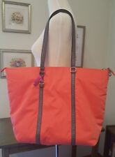 NEW Vera Bradley large Midtown Tote Coral Reef charger pocket faux leather trim