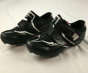 SHIMANO Off Set WM82 Cycling Shoes WOMENS EU 40 US 7.8 EUC black pink biking