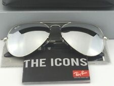 Ray Ban  Aviator RB3025 Silver Frame Silver Mirror Lens 58mm
