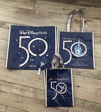 More details for walt disney world 50th anniversary reusable shopping bag small medium large set