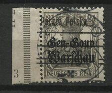 Polen 1919 Michen Nr 14 Aufdruck verschoben.Provisorium Stempel KONIN