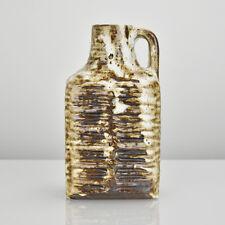 Carstens Textured Pottery Vase Design R. Christmann Mid Century Modern Fat Lava