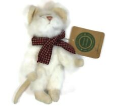 """BOYDS BEARS - 6"""" Brie Mouse With Red Plaid Scarf 1998"""