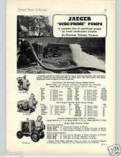 1951 PAPER AD 6 PG Jaeger Cement Mixer Portable Truck Mount Spreader Paver