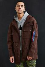 ALPHA INDUSTRIES  UO Urban outfitters brown Long m-51 Parka size large
