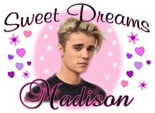 """JUSTIN BIEBER Personalized PILLOWCASE """"SWEET DREAMS"""" Any NAME Super Soft"""