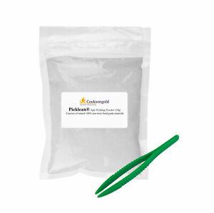 "Picklean Safe Jewellers Pickling Powder 150g and  Plastic 5"" Tweezer"