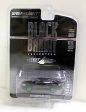 Greenlight 1/64 Scale - 2015 Chrysler 200 S Black Bandit Green Wheels Chase Car