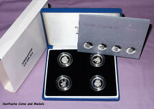 2004 Royal mint £ 1 moneda de plata prueba patrón Set-heráldica bestias