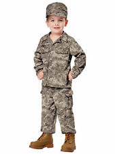 Soldier Army Military Commando Seal Team Book Week Toddler Boys Costume 3-4