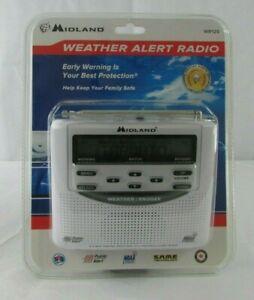 Midland WR-120 Emergency Weather Alert Radio Alarm Clock Tri-Lingual, NEW