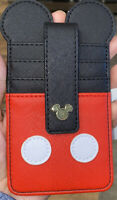 Disney Parks Mickey Icon Ears Shorts Snap Credit Card Holder ID Wallet - NEW