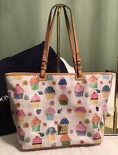 Dooney Bourke Novelty CUPCAKES Gretta DB Leather Large Leisure Shopper Tote Bag