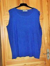 CASHMASOFT LADIES Soft BLUE Plus Size TANK TOP Size XXL