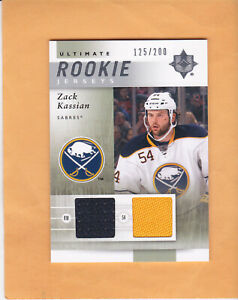 2011 12 ULTIMATE ZACK KASSIAN ULTIMATE SP 200 ROOKIE JERSEY #URJ-ZK SABRES