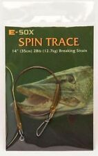 Drennan E Sox spinning Trace Pike wire Fishing Trace