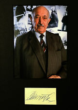 Simon Wiesenthal Nazi Hunter SIGNED CUT MATTED with 5x7 PHOTO AUTOGRAPHED