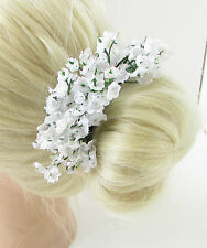 White Gypsophila Baby's Breath Bun Garland Flower Headband Hair Belt Holder Y01