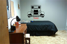 Classic Car & Personalized Name Wall Sticker Wall Art Decor Vinyl Decal Mural