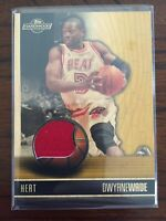 2008 Topps Hardwood  JERSEY PATCH 34/75 Dwyane Wade Miami Heat 🔥