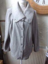 ❤️❤️❤️Per Una@ M & S  UK XL Grey Coat/jacket. Button Up Lovely, VGC