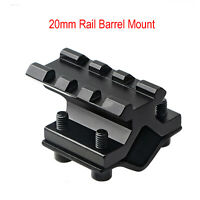 Double 20mm Rail Barrel Mount Clamp for Rifle Gun Scope Light Laser Bipod Quick