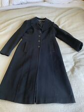 Lovely Coast Black Knee Length Fitted Coat Size 14 95% Wool 5% Cashmere