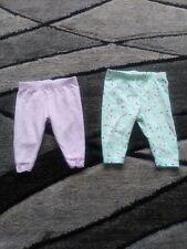 Baby Girl Pants Purple Ruffle & Teal Polka Dot 2 lot size 0/3Month Garanimals