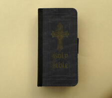 Holy Bible Religious flip wallet case Samsung Galaxy Note case iPhone wallet