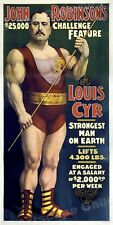 1898 Louis Cyr - Strongest Man on Earth! - Huge 6' Tall Poster!!! - 36x72