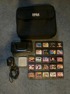 Sega Game Gear - Large Bundle - 22 Games- Case- Adapter -W/Double Dragon