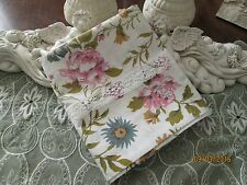COUNTRY COTTAGE BEAUTIFUL PINK CHIC & SHABBY ROSES & LACE PILLOWCASE - NEW