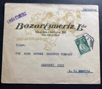 1930s Porto Portugal Commercial Cover To Sandusky OH USA