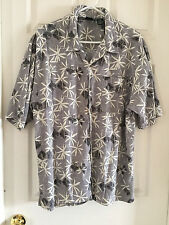 Men's Ocean Pacific Hawaiian Large L Cotton/Rayon Waffle Texture Multi-Colored
