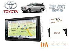 2001-2007 TOYOTA HIGHLANDER CAR STEREO KIT, SIRIUS XM READY TOUCHSCREEN GPS NAV