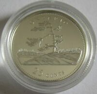 Canada 25 Cents 1992 125 Years Dominion Ontario Silver Proof