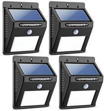 URPOWER 8 LED Wireless Solar Motion Sensor Outdoor Light - 4 Pack