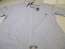BRITISH LAUNDRY - BUTTON UP CASUAL S/S SHIRT + TAGS - XXL - SEE DESC FOR SIZING